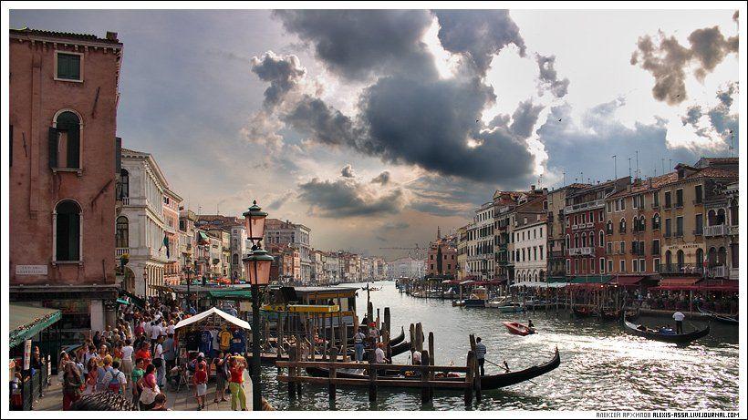 Венеция, Италия, гранд, канал, Alexis Assa