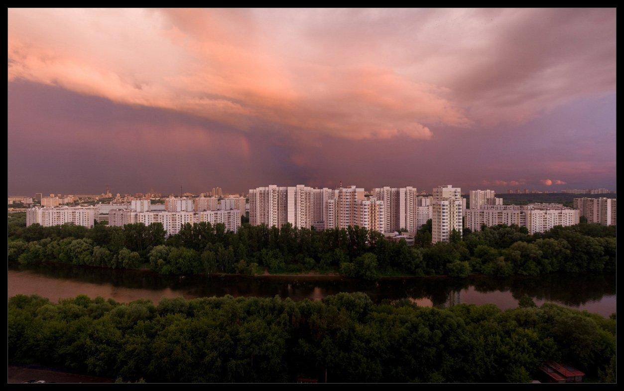 москва, река, июнь, город, Алексей Самарин