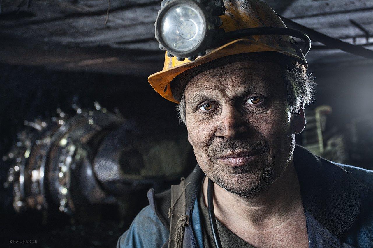 шахтер, портрет, жанр, шахта, добыча угля, coal, mining, coal mining, portrait, russia, kuzbass, Шаленкин Роман