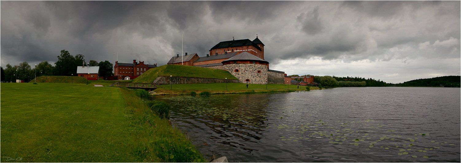 финляндия, крепость, непогода, панорама, озеро, тучи, Darn Cat