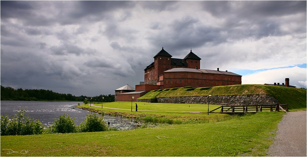 финляндия, крепость, камни, озеро, мост,, Darn Cat