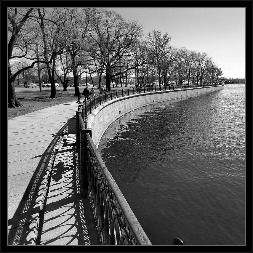 петербург, центр, нева, троицкий мост, чб, квадрат, Kirill Shapovalov