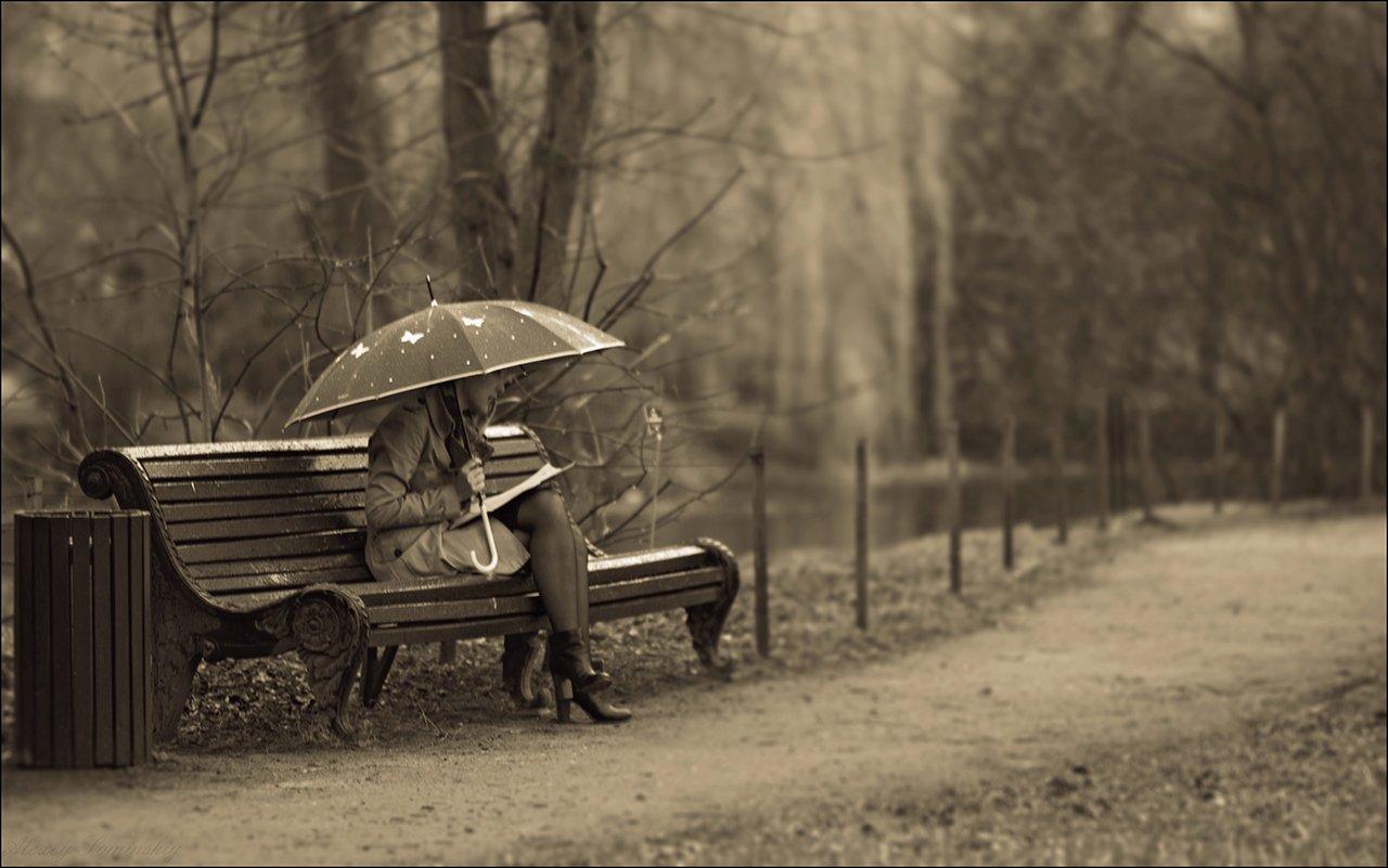 под зонтом девушка картинки