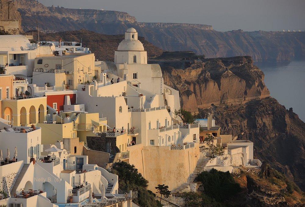 Вулкан, Греция, Кальдера, Санторини, Тира, Фира, Nelly B.