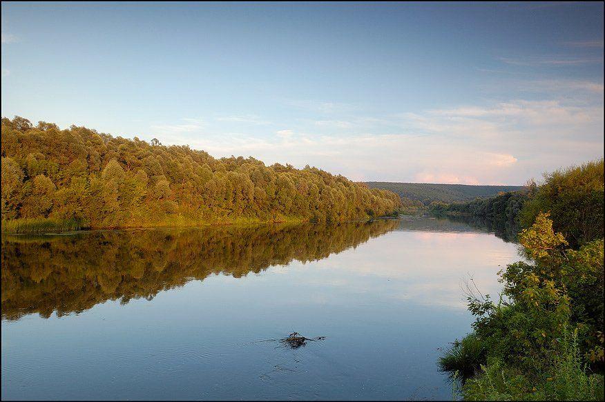 вечер, река, рыбалка, комары, Капустин Николай