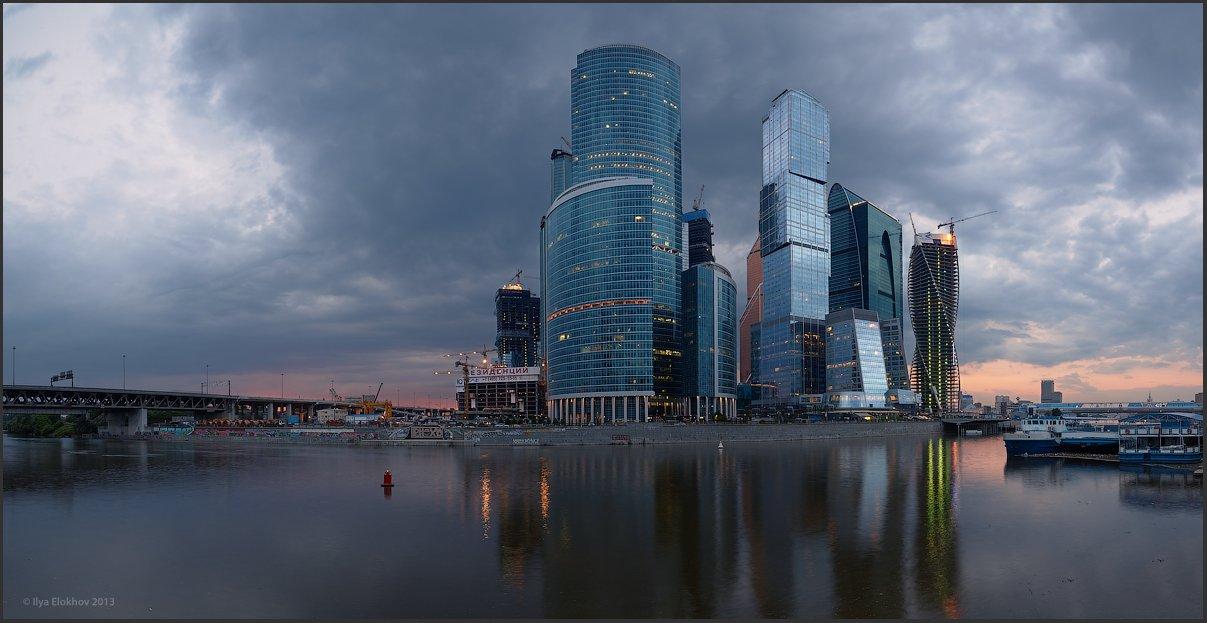 архитектура, вечерняя москва, москва, москва-сити, Елохов Илья