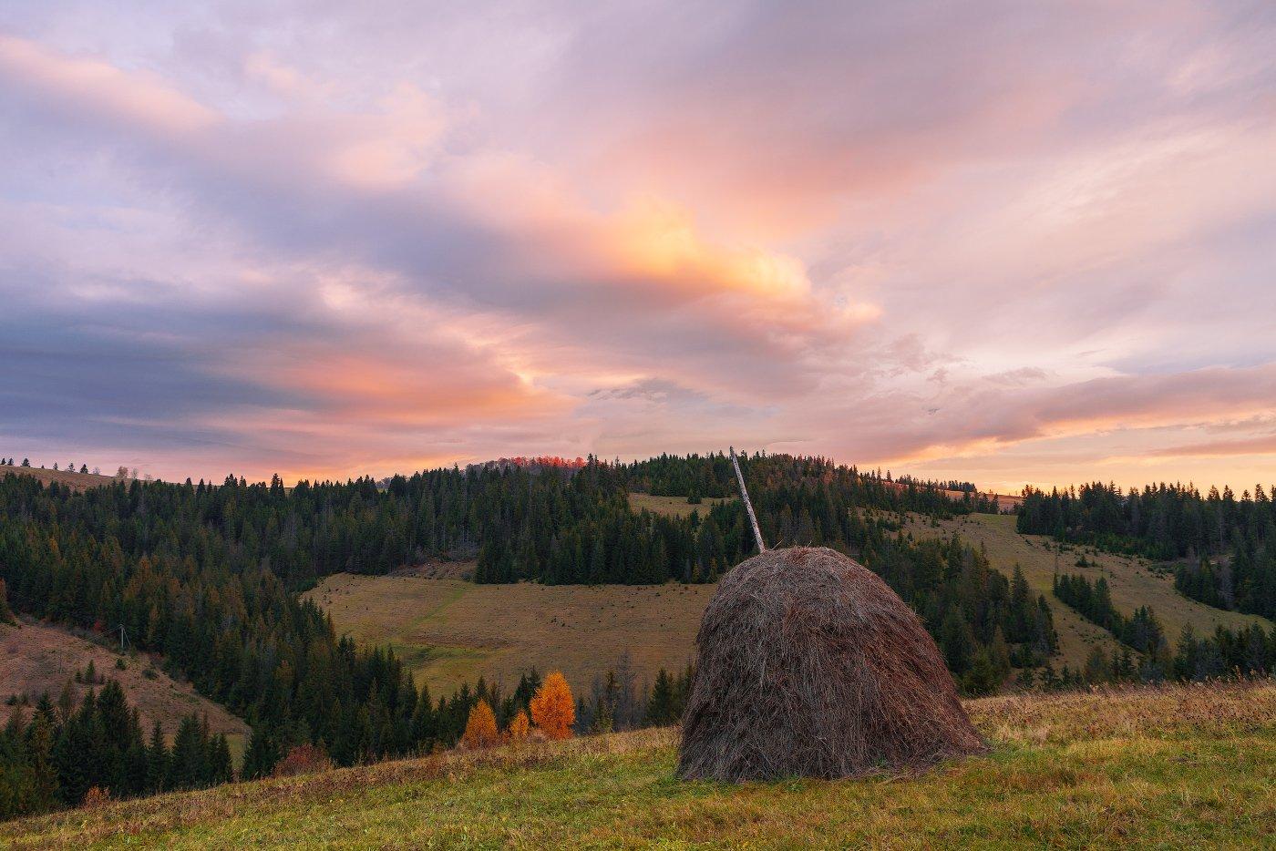 Карпаты Горы Рассвет Стог Осень, Кочетков Евгений
