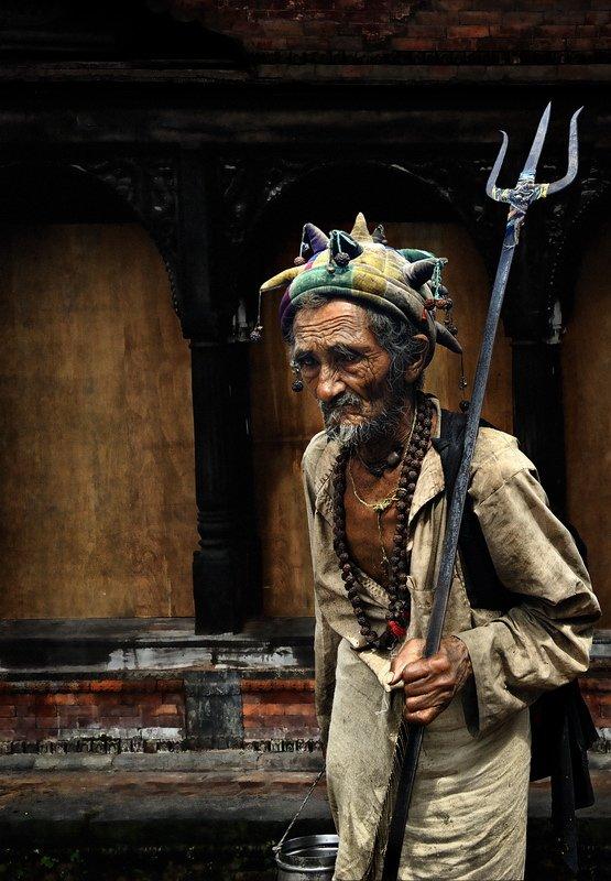непал, шут, старик, fotomafia