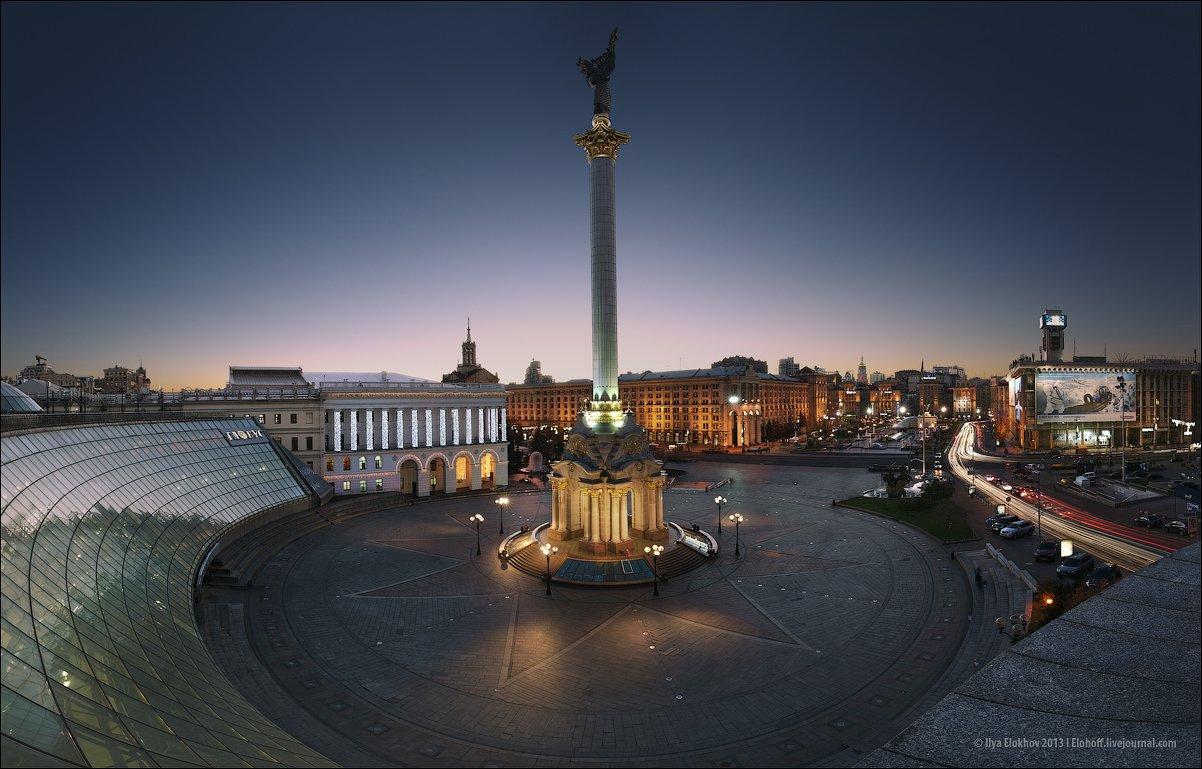 киев, майдан незалежності, архитектура, вечерний киев, Елохов Илья