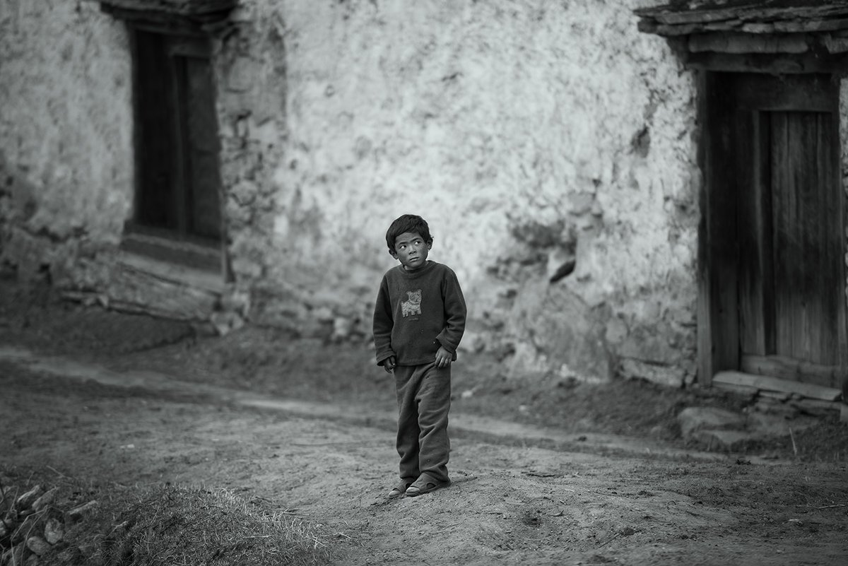Гималаи, Мальчик, Непал, Роман Стативка