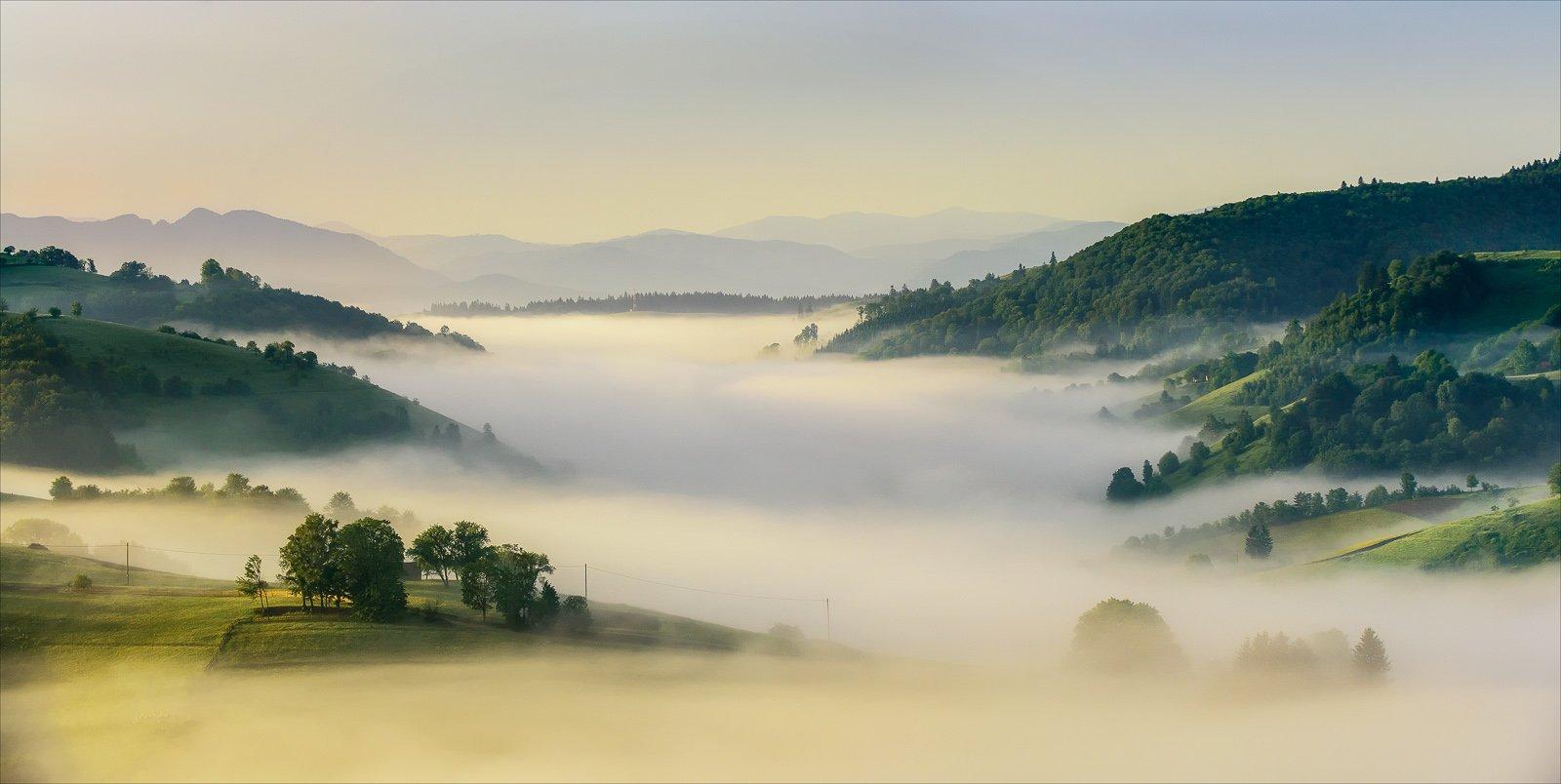 Clouds, Fog, Landscape, Nature, River, Romania, Sunrise, Transilvania, Ioan Chiriac
