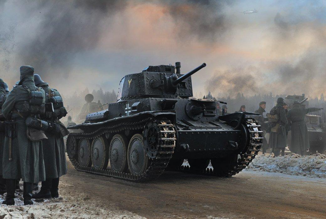 война, немцы, танк, солдат, pzkpfw 38(t) praga, Boji
