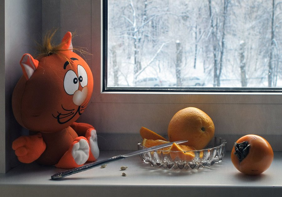 Апельсин, Зимний, Игрушка, Натюрморт, Хурма, LudmilaNG