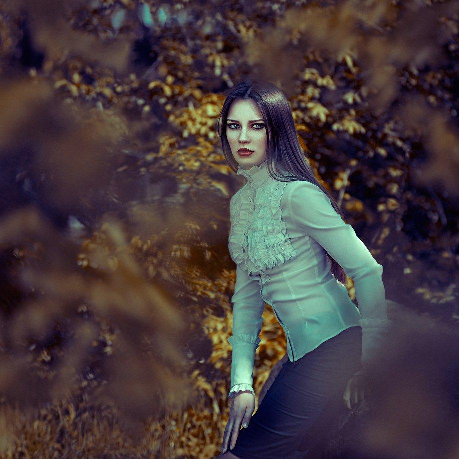 Bokeh, Model, Olga tkachenko, Outdoors, Park, Spring, Square, Sunlight, Trees, Olga Tkachenko
