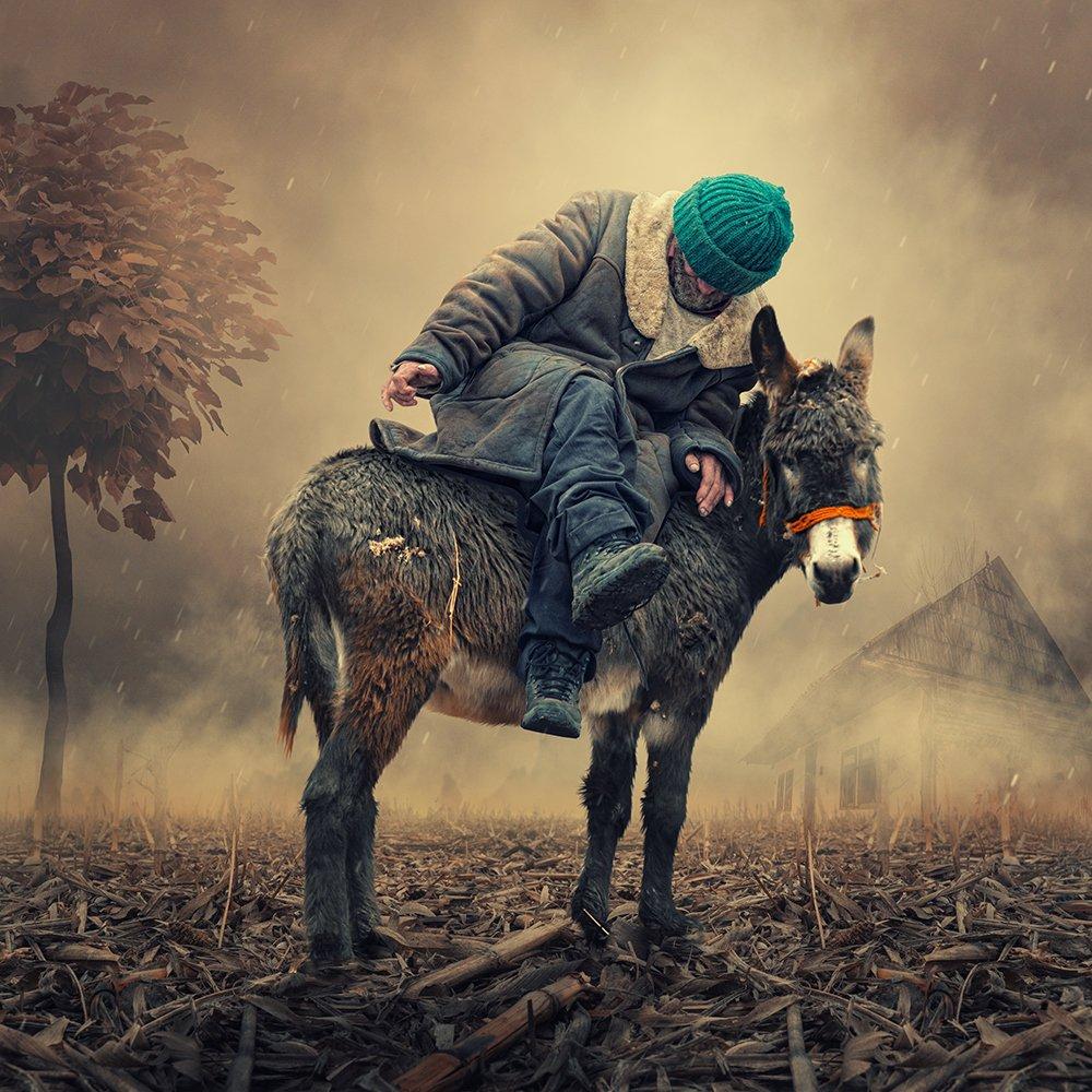 black, dunkey, fantastic, flowers, fog, ground, man, manipulation, mystery, old, psd, rung, smoke, tutorials, walking, wings, Caras Ionut