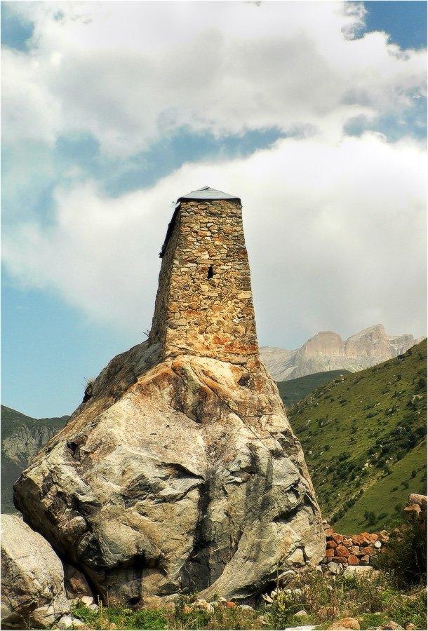 верхняя балкария, башня, амирхан-кала, КарОл