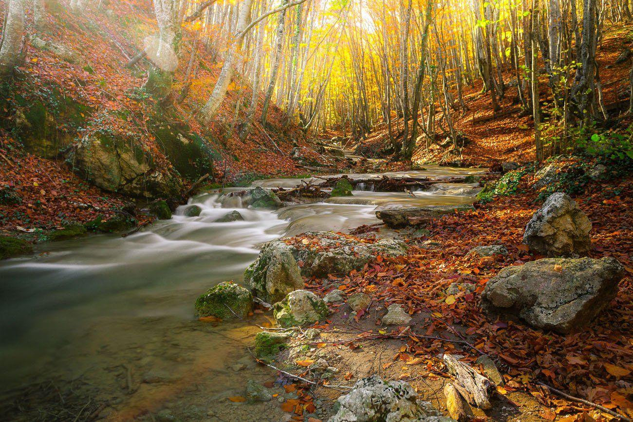 Крым, Осень, Речка, Asconty