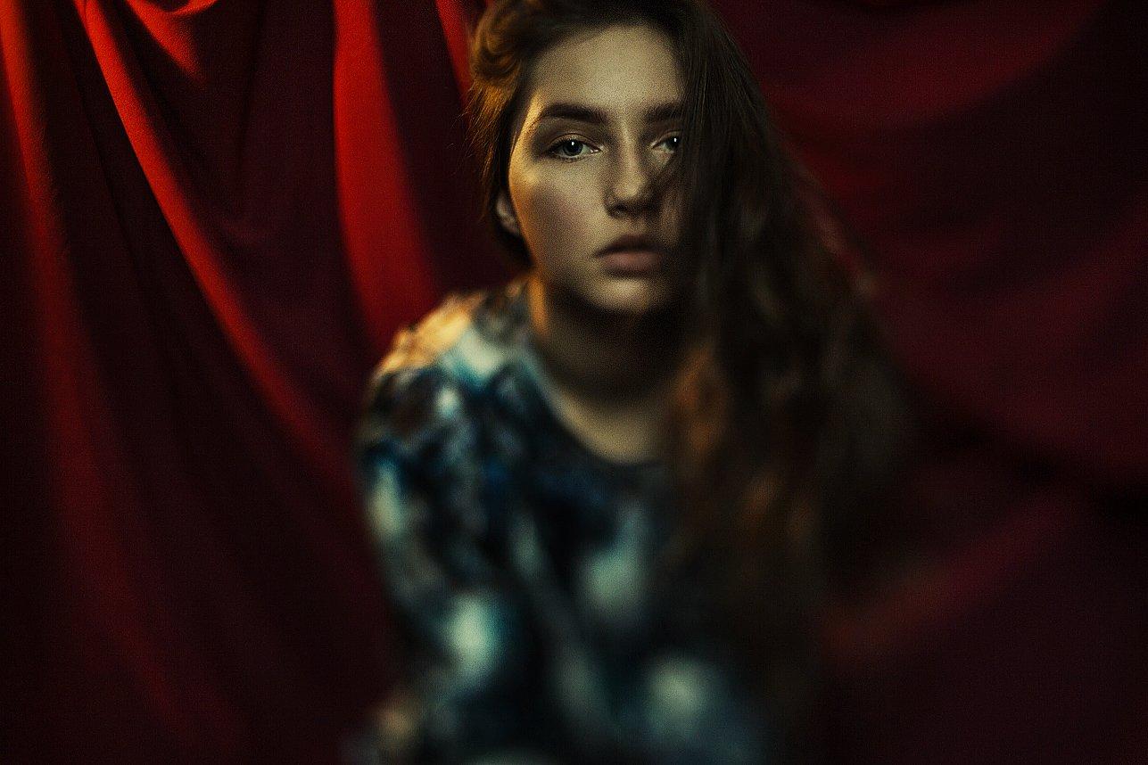 Красная штора, Портрет, Псевдотилт, Тилт, Sanica