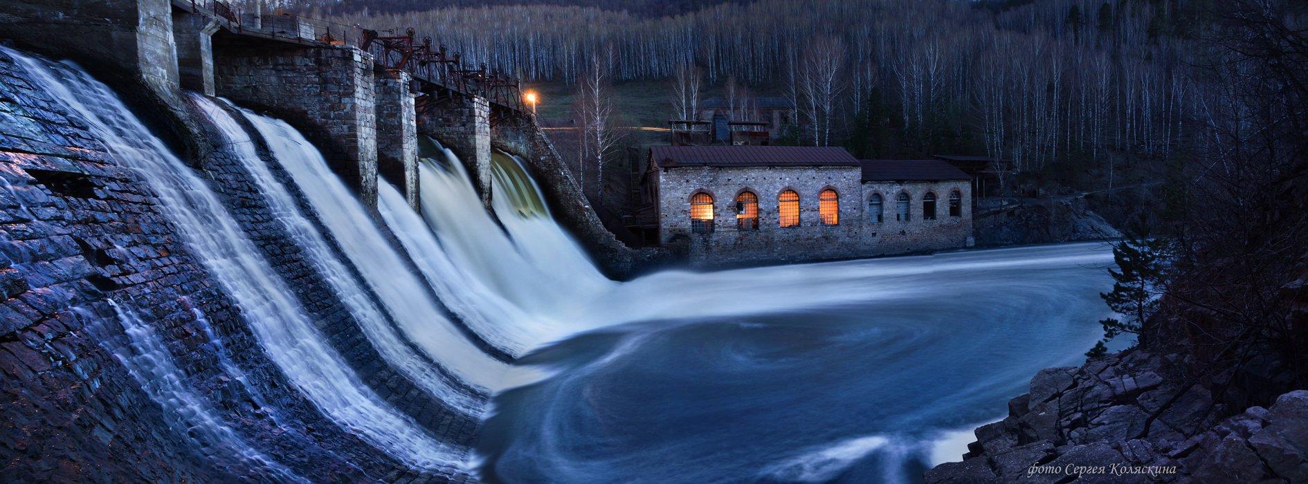 пороги, фотограф сергей коляскин, водоворот, панорама, гэс, гидроэлектростанция, Сергей Коляскин