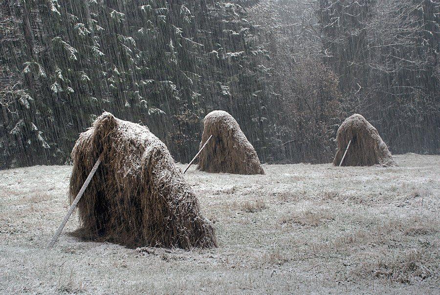 пейзаж, зима, снег, стихия, стога, lad_i_mir, lad_i_mir