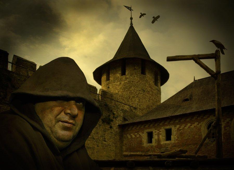 комп-арт, крепость, монах, перед казнью, lad_i_mir, lad_i_mir