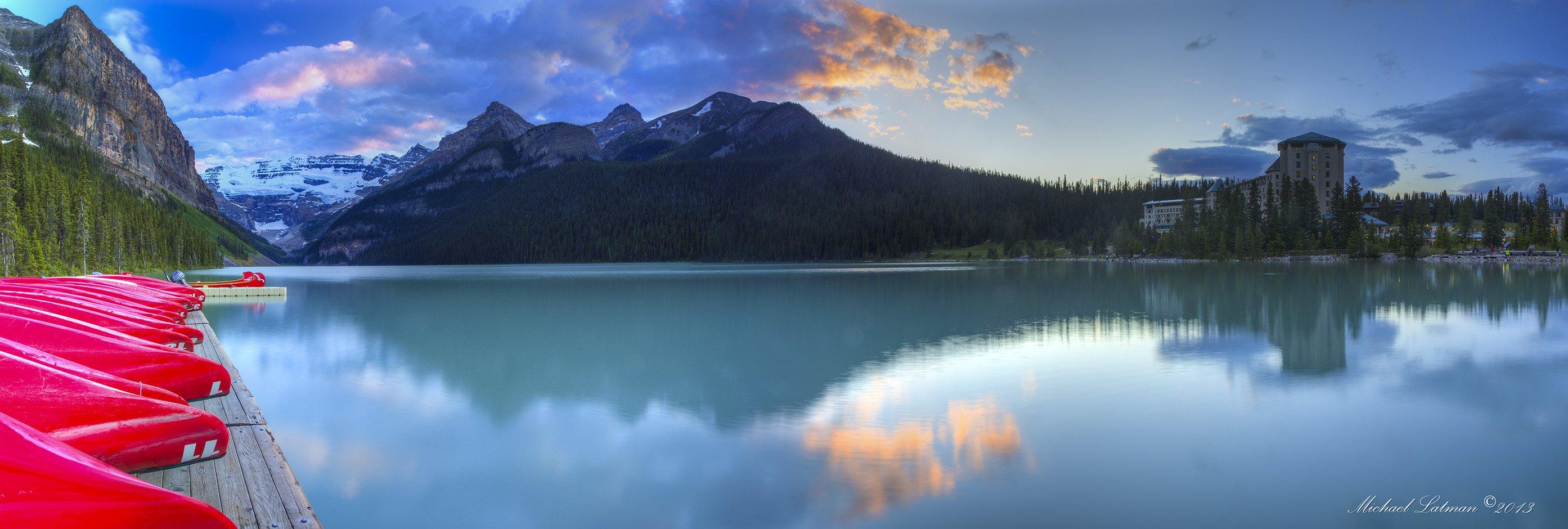 Lake, Moumtains, Summer, Sunset, Tranquility, Zen, Michael Latman