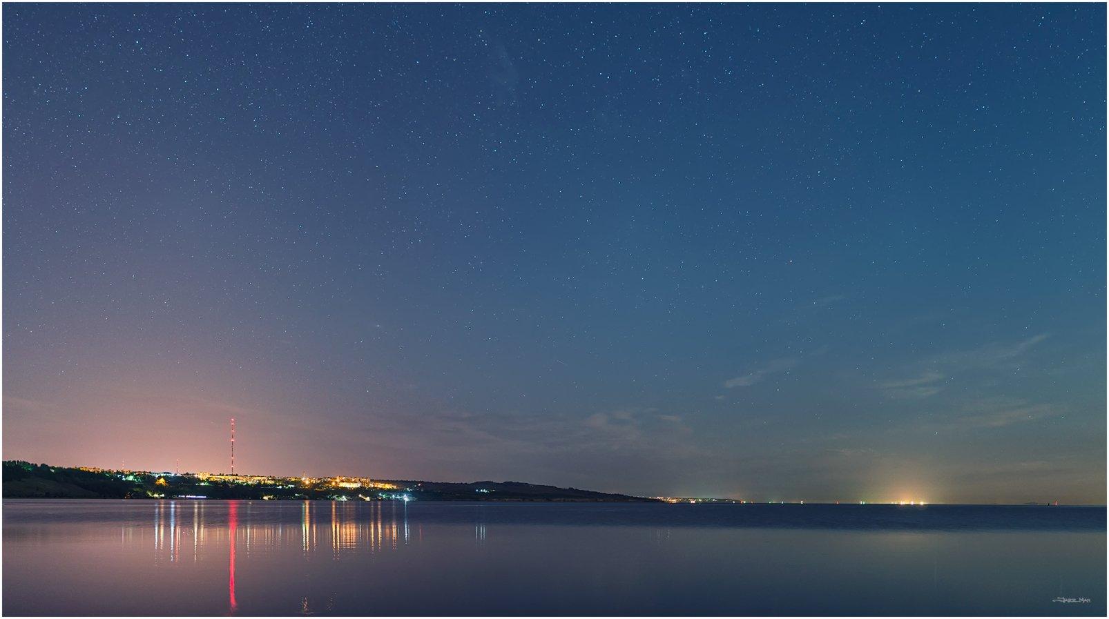 Звезды, Керчь, Крым, Море, Небо, Ночь, Панорама, Черное море, Jazz Man
