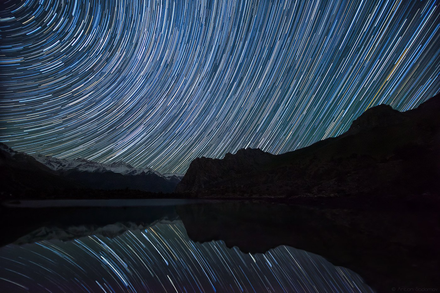 алаудины, озеро, таджикистан, ночь, звезды, Антон Садомов