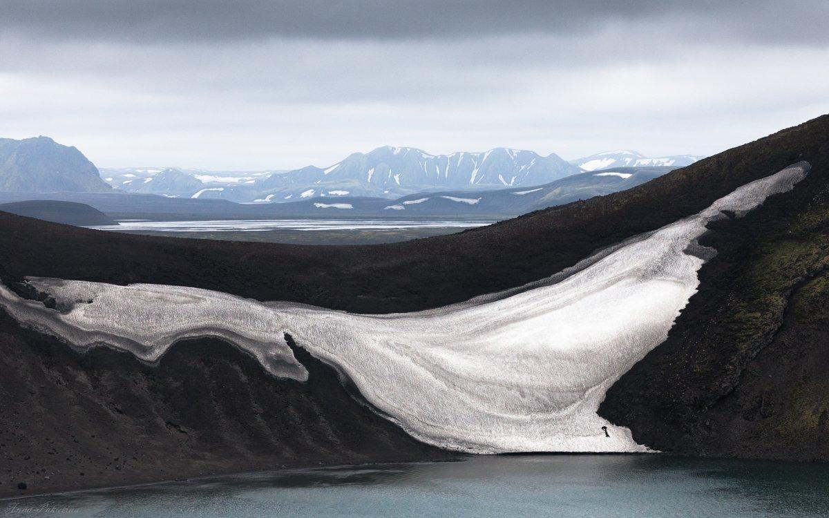 iceland, горы, исландия, озеро, снег, Анна Пакутина
