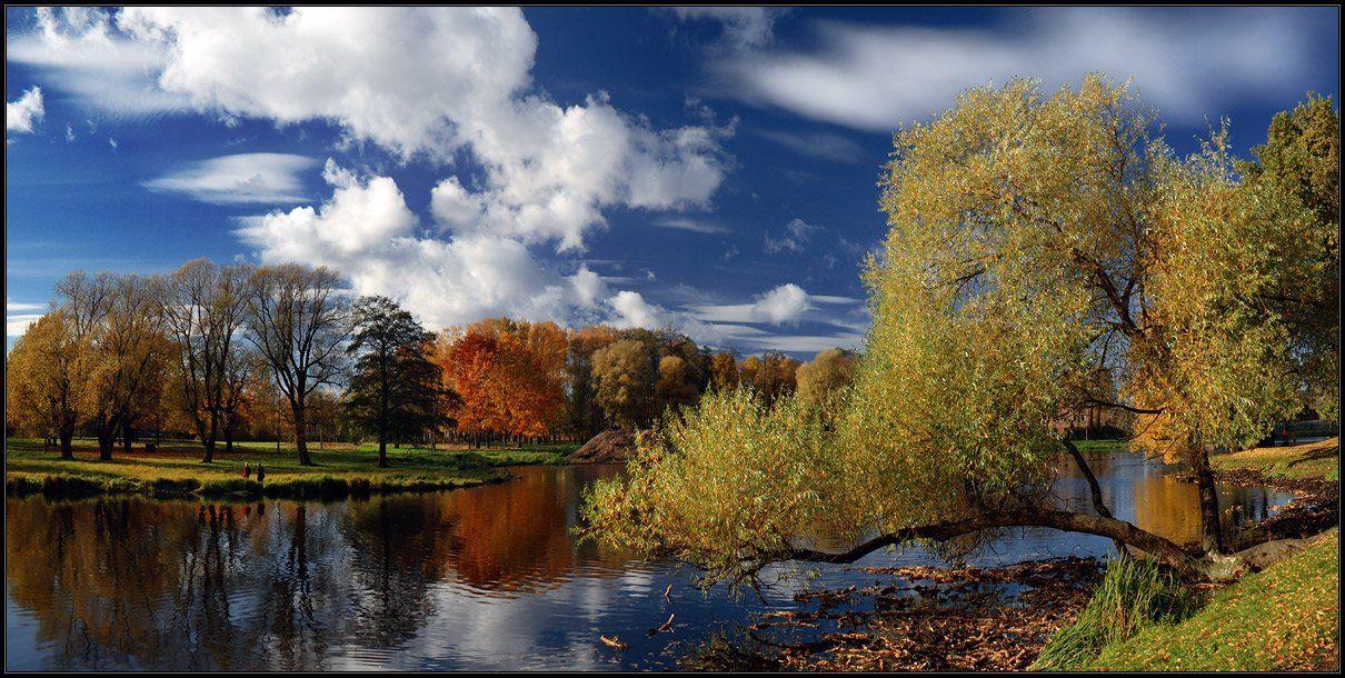 рига, осень, октябрь, пруд, облака, Karlis Keisters