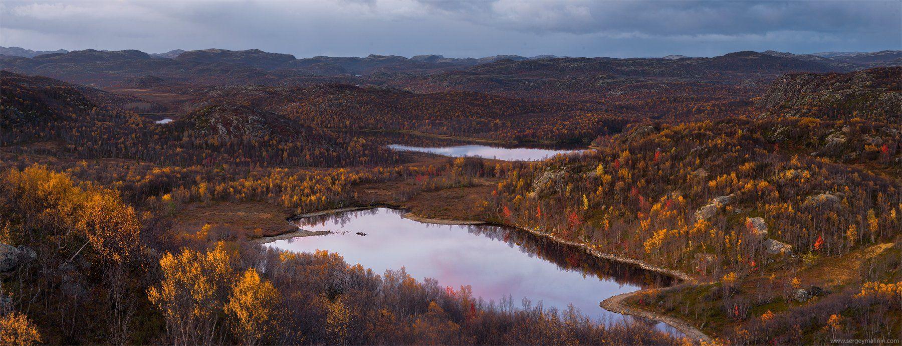 Autumn, Hill, Kola Peninsula, Кольский, Осень, Сергей Малинин
