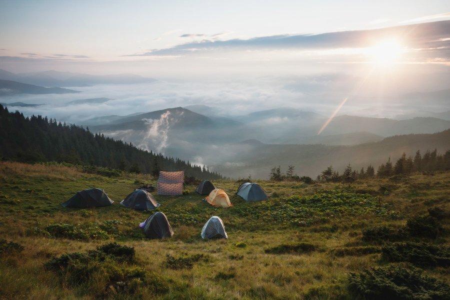 Горы, Карпаты, Пейзаж, Свет, Солнце, Украина, Утро, Piligrim