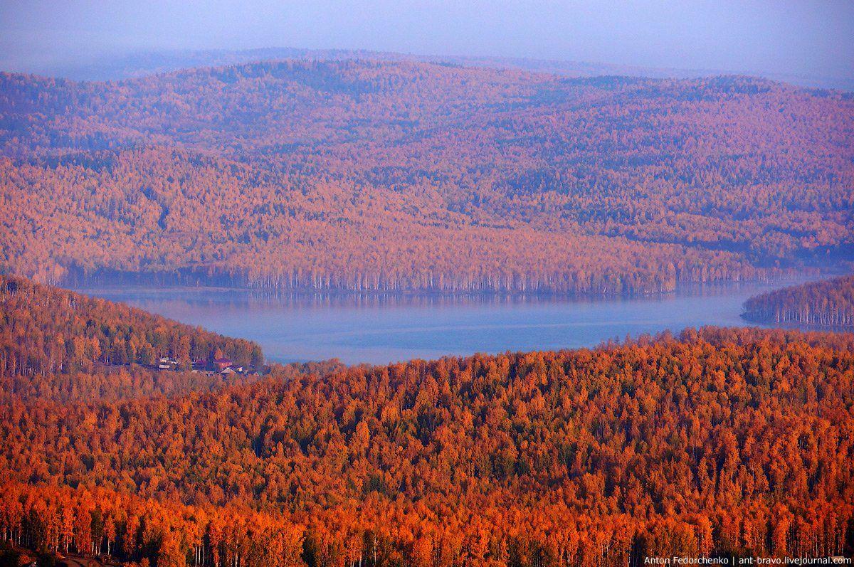 горы, золото, карааш, озеро, осень, южный урал, Антон Федорченко