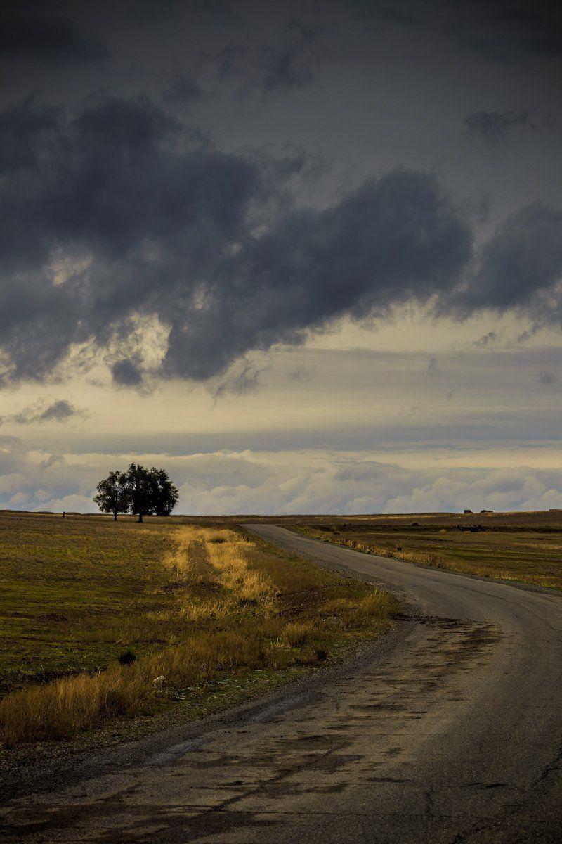 Aynabulak, Clouds, Kazakhstan, Road, Айнабулак, Просёлочная дорога, Popgraph