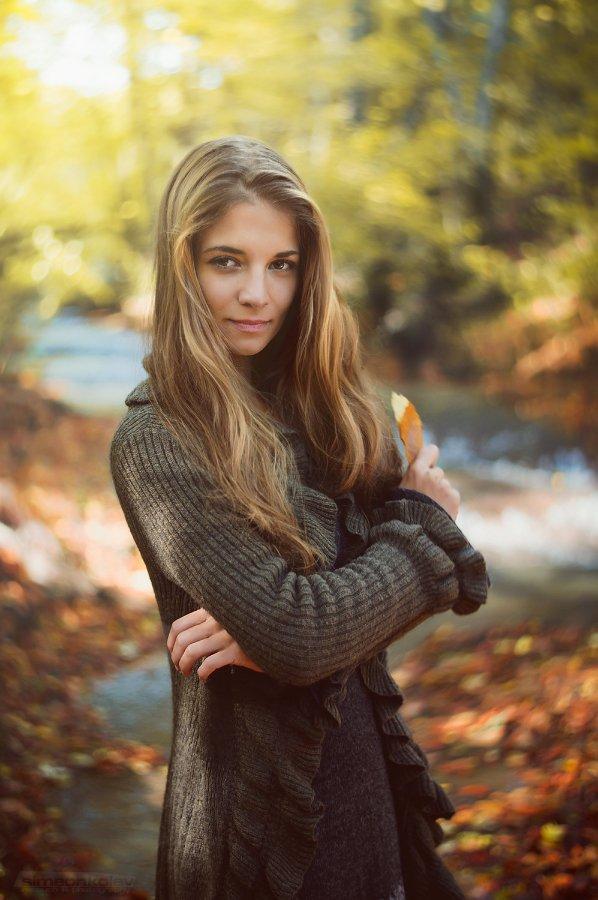 Девушка, Осень, Портрет, Река Батова, Simeon Kolev