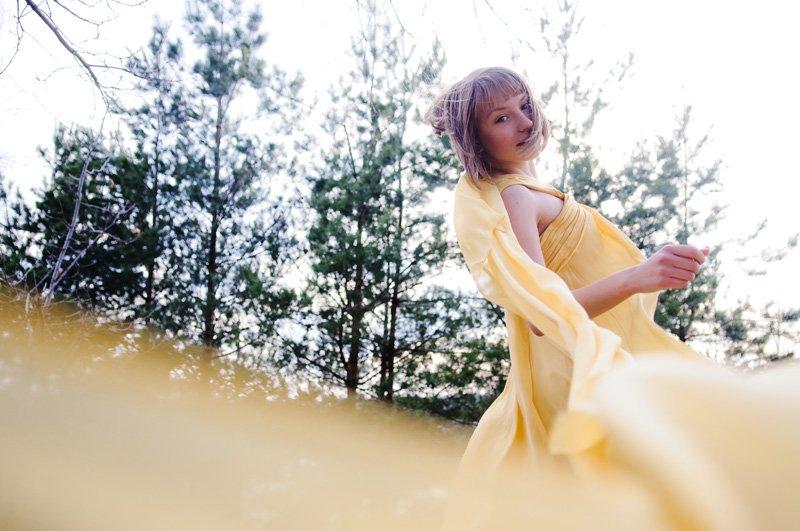 девушка, ветер, платье, весна, Недорез Александр
