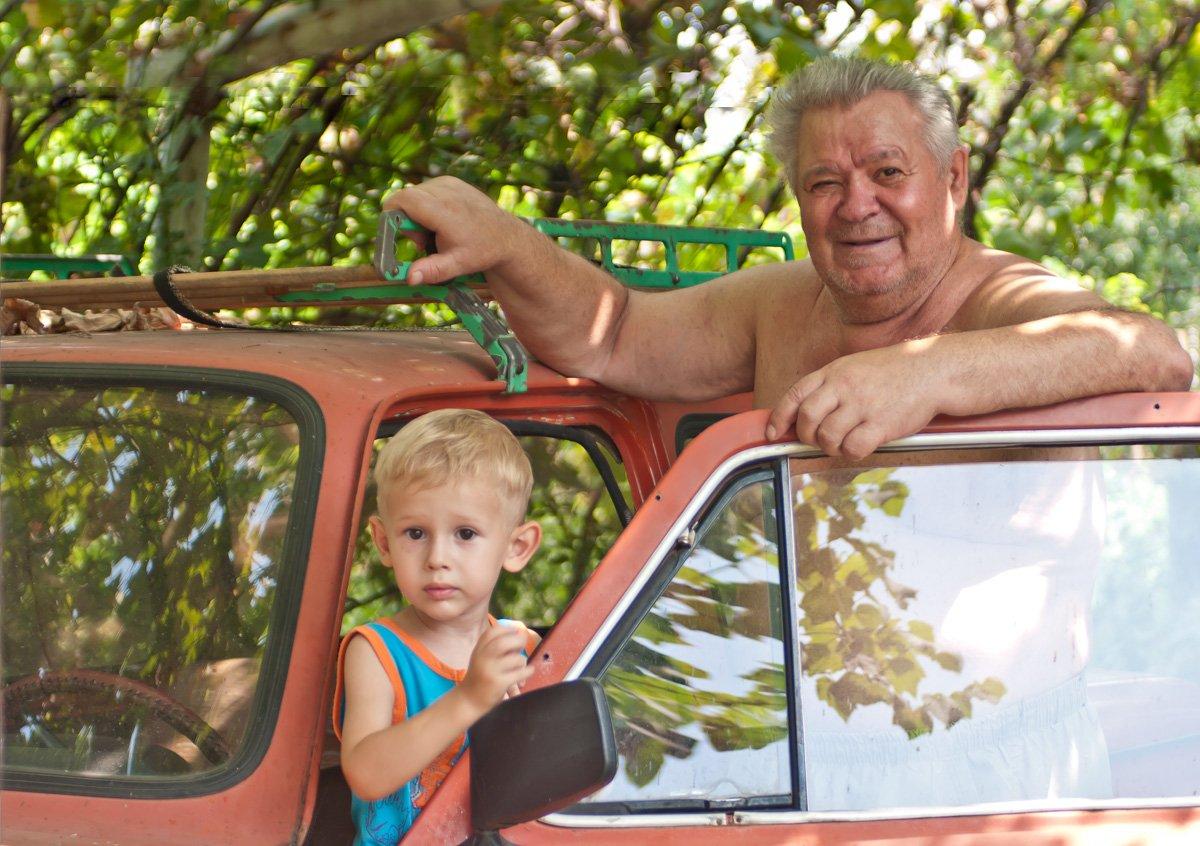 как мы с дедой на рыбалке