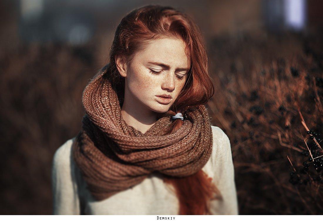 девушка, рыженькая, модель, веснушки, Руслан
