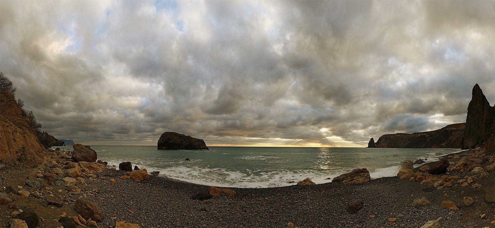Крым. пейзаж. море. берег. небо., Сергей Шульга