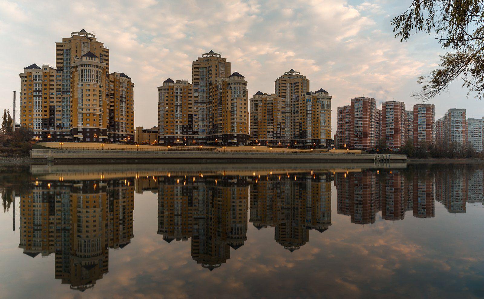 утро, река, кубань, город, краснодар, 45, параллель, Александр Плеханов