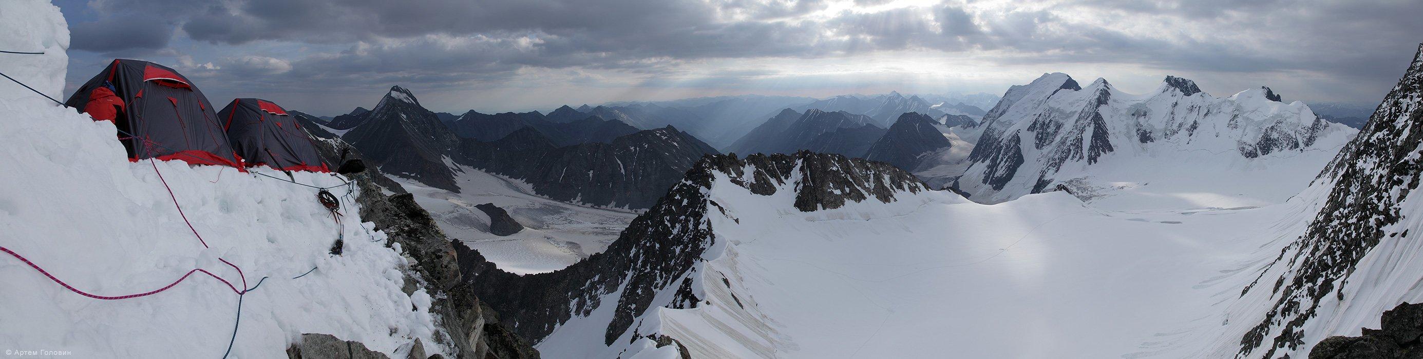 Делоне, альпинизм, лагерь, Катунский хребет, Алтай, Артем Головин