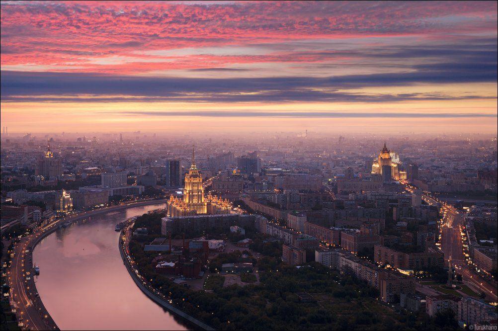 гостиница украина, москва, рассвет, Иван Турухано