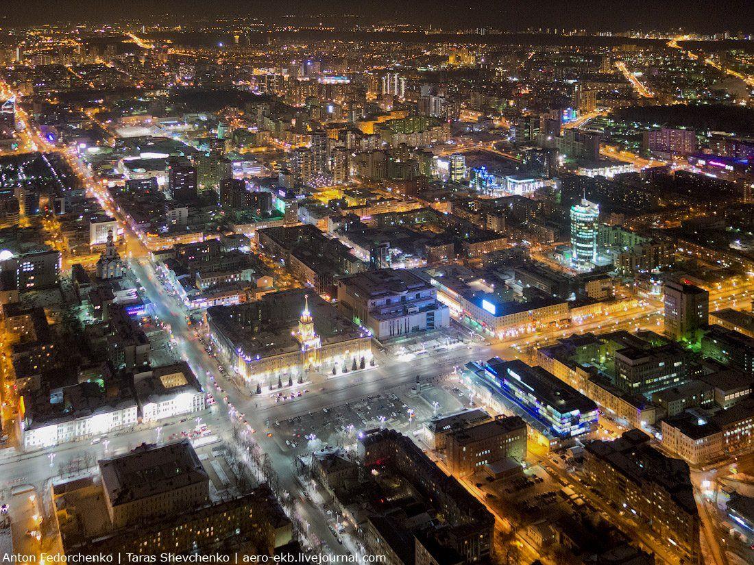 город, екатеринбург, ночной, Антон Федорченко