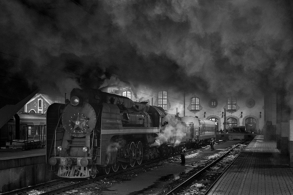 Вагон, Вокзал, Генерал, Дым, Паровоз, Победа, Поезд, Рельсы, Ретропоезд, Ржд, Станция, Михаил Глаголев