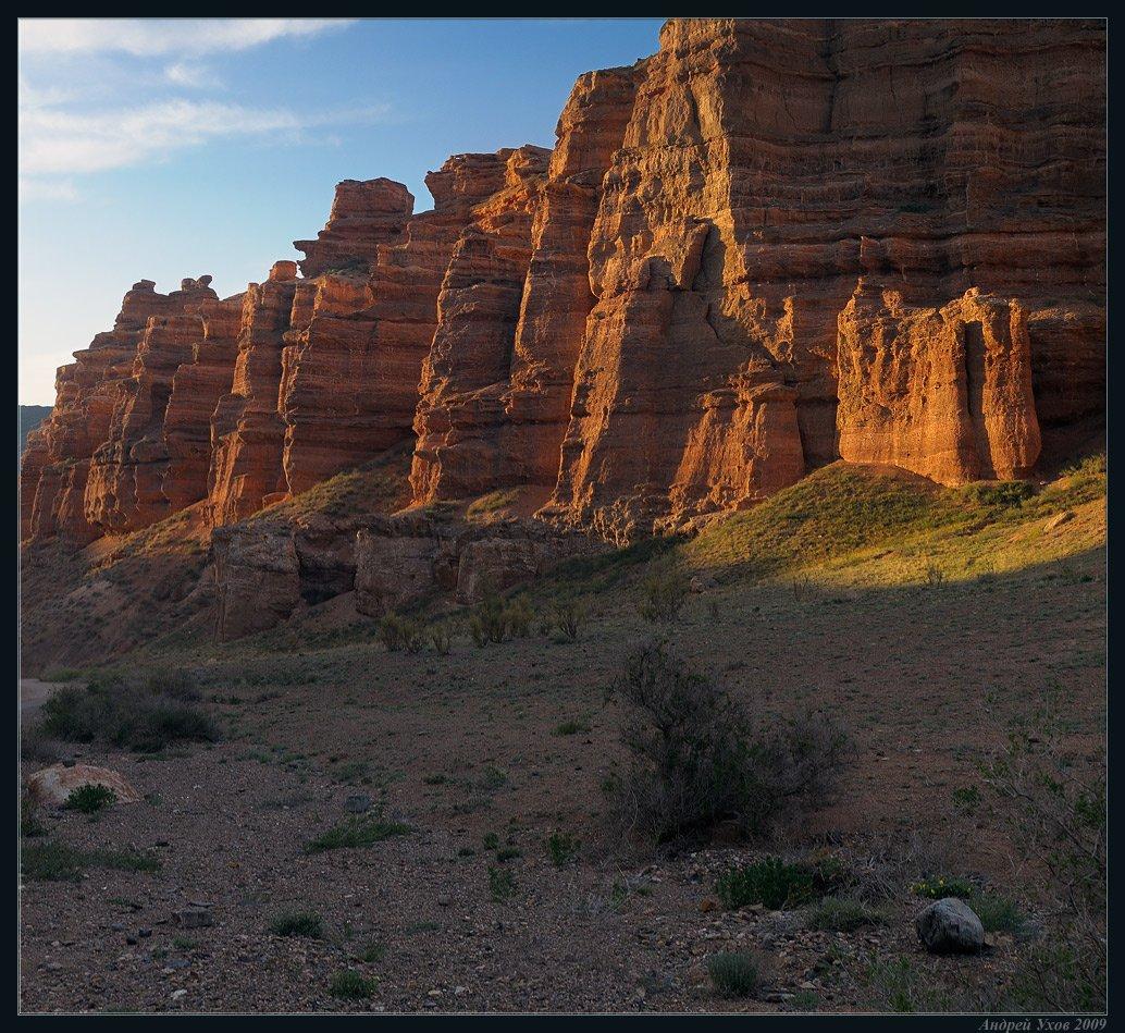природа,весна,каньон,скалы,утро,свет,пустыня,саксаул, Андрей Ухов