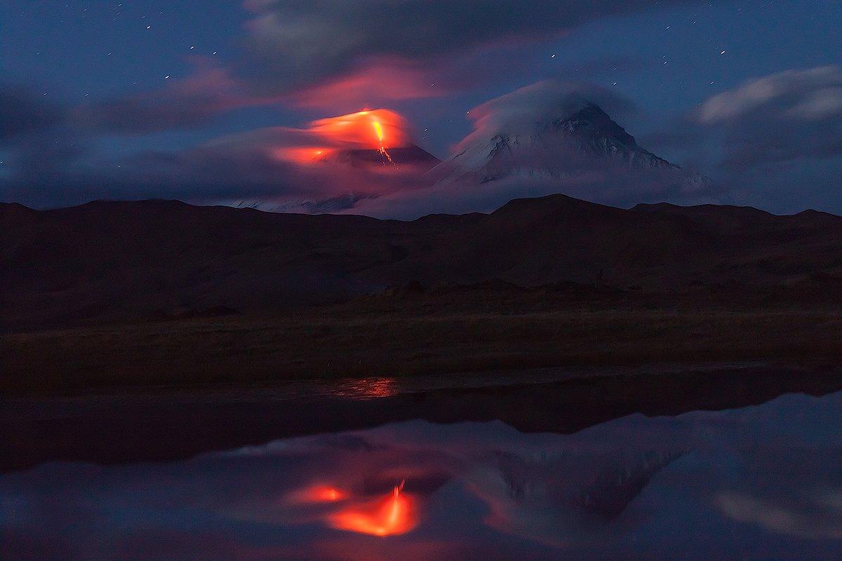 Вулкан, Извержение, Лава, Огонь, Денис Будьков