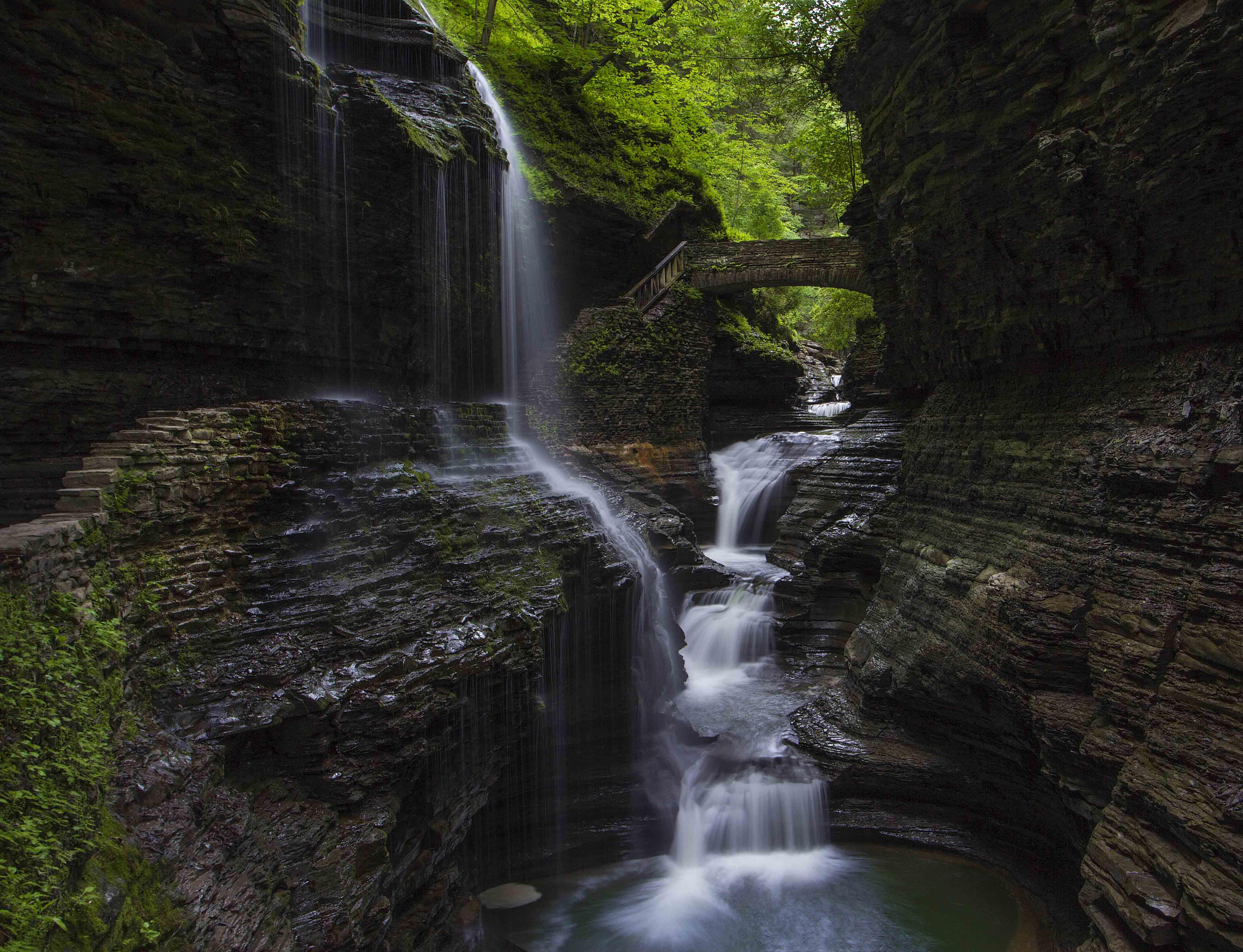 Cascade, Glen creek, Glen watkins, Waterfall, Водопад, Каскад, Екатерина Богданова