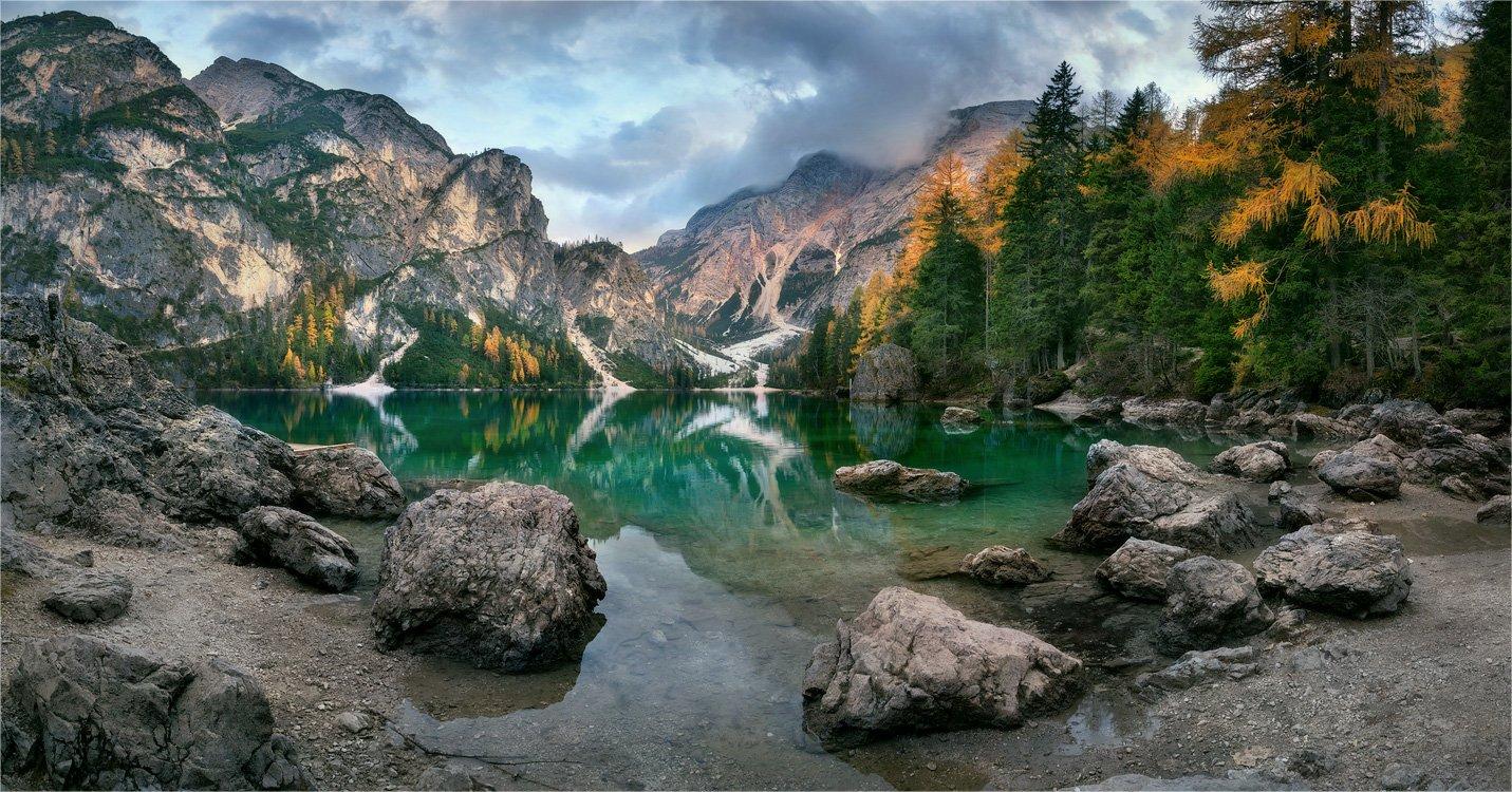 Lago di Braies, Доломитовые альпы, Италия, Александр Киценко