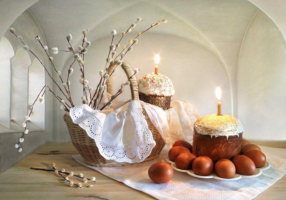 праздник,пасха, корзина,верба,яйца,свечи, Алла Шевченко