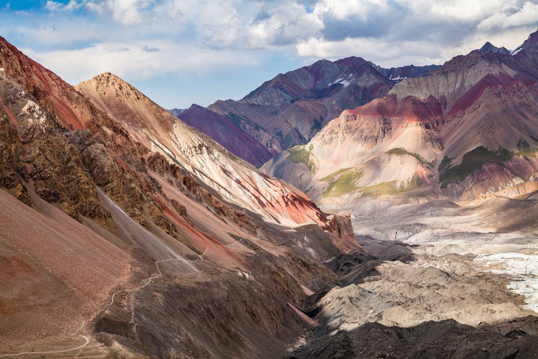 Памир, горы, цвет, небо, Киргизия, Кыргызстан, пик Ленина, Иван Куликов